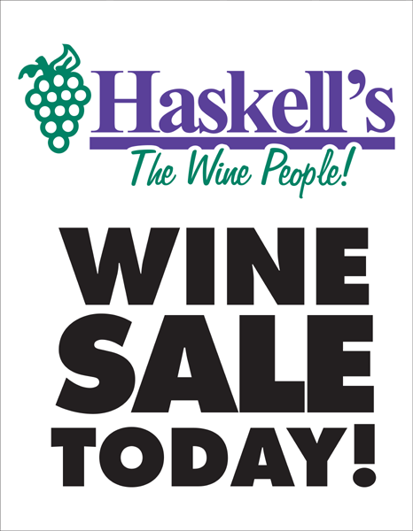 wine sale signs