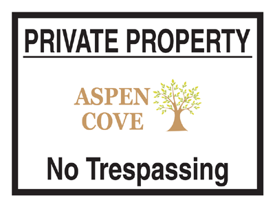custom private property yard sign