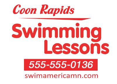 corrugated plastic swimming lessons sign