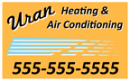 heating and air conditioning sign